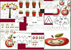 A_Apple- a letter pack that has a little something for little ones from tot-kindergarten. Download and enjoy!