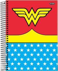 Caderno Espiral Universitário Jandaia Capa Dura 10X1 200 Folhas Mulher Maravilha Roupa