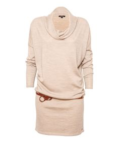 Tan Marled Yarra Glen Merino Wool Sweater Dress - So cute with tights and boots