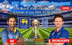 India Vs England Match, ICC Cricket World Cup 2019 Streaming HD At Birmingham, June 30 2019 PM IST Online Cricket Live In HD for you just visit and signup and enjoy Watching World Cup 2019 Matches Online. Live Cricket Streaming Hd, Live Match Streaming, World Cup Live, Icc Cricket, Live Hd, Live Matches, Match Highlights, Cricket World Cup, Leeds