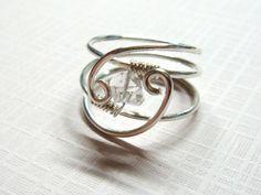 Herkimer Diamond Ring  Sara's Serenity Herkimer by SpiralsandSpice #etsy #ring #jewelry