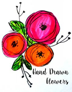 Hand Lettering: Flower Embellishments Embellish your lettering with these simple, hand drawn flowers!Embellish your lettering with these simple, hand drawn flowers! Plant Drawing, Painting & Drawing, Sign Painting, Drawing Hands, Hand Drawn Flowers, Easy To Draw Flowers, Simple Flowers, Flower Doodles, Doodle Flowers