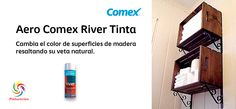Aero Comex River Tinta. Cambia el color de superficies de madera resaltando su veta natural. #ComexPinturerías