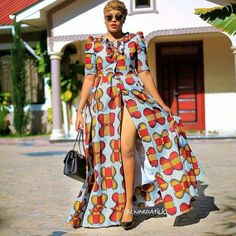 African fashion is available in a wide range of style and design. Whether it is men African fashion or women African fashion, you will notice. African Maxi Dresses, Ankara Dress, African Attire, African Wear, African Women, African Fashion Designers, African Print Fashion, Africa Fashion, African Prints