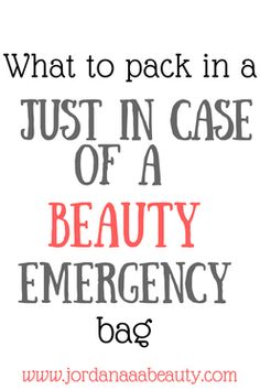 Beauty Emergencies happen...be prepared! This is a full checklist of things you should have on hand in case of any hair, makeup, or fashion emergency happens! #wedding #beauty