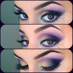 Purple and gold eyeshadow makeup