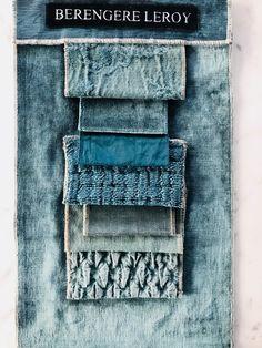 Lins lavés bleu canard, jacquard stone washed bleu canard Berbère Edition Berengere Leroy septembre 2017