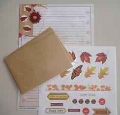 Briefpapier set (10-delig) | Autumn butterflies
