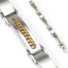 Spikes 316l Stainless Steel Inlayed Cuban Link Bracelet