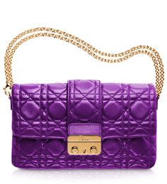 DIOR NEW LOCK  #Dior large leather 'Dior New Lock' pouch: purple is IN!