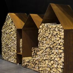martijn | kuppers & wuytens Firewood Shed, Firewood Storage, Wood Store, Simple Interior, Corten Steel, Garden Structures, Outdoor Storage, Architecture Details, Land Scape