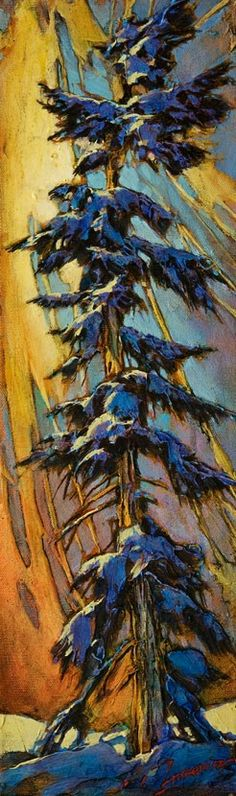 The Downturn, by David Langevin Canadian Painters, Tree Art, Original Paintings, Trees, The Originals, Artist, David, Tree Structure, Artists
