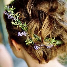 Pretty rosemary wreath-part of Czech traditions! Would look stunning with a Gibson Tuck up-do and a bit of lavender.