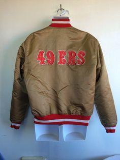 49ERS Satin STARTER Jacket 80's Vintage/ by sweetVTGtshirt on Etsy