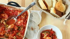 Tomatoes keep the chicken juicy in this no-fuss weekday dinner bake.