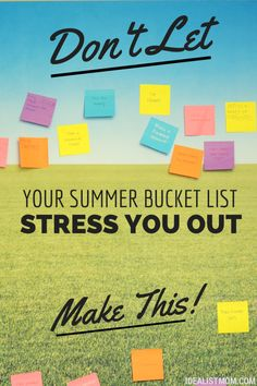 Don't Let Your Summer Bucket List Stress You Out – Make This Instead