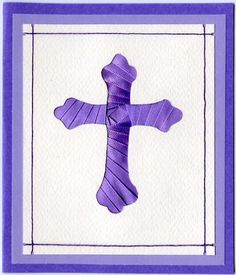 iris folding card making idea - using ribbon