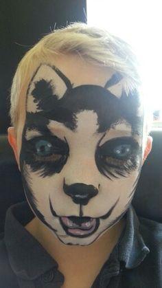 Husky face paint www.facebook.com/vizardfacebodyart