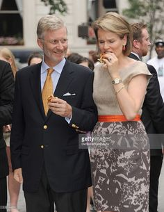 Prince Philippe and H.R.H Princess Mathilde of Belgium visit Central Park on June 22, 2011 in New York City.
