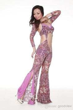 Wholesale Stage Wear - Buy 2014 New Design!Hot Sale Belly Dance Clothing Sexy Top Grade Spandex Training Clothing Upper Garments+Pants Free Size, $62.83 | DHgate