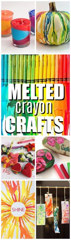 Whether we melt them, mold them, fold them, cut them, or glue them, crayon craft ideas are pretty timeless and I hope you enjoy these neatMelted Crayon Crafts.