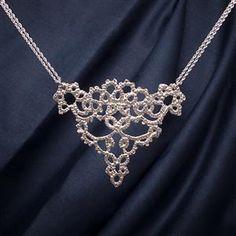 Cornucopia Silver Lace Necklace   13th Anniversary   MyGiftGenie