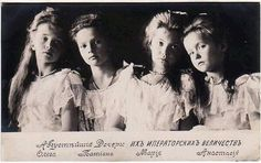 The Four Romanov Sisters of Russia, 1906