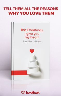 No doubt she knows you love her, but does she know all the little reasons why? Tug on her heartstrings with LoveBook, and create a story entirely unique to you. Your perfect holiday gift awaits at lovebookonline.com