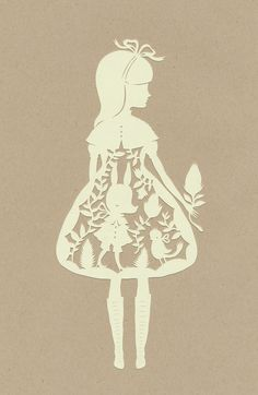 Old soul girls.  Lovely paper cutting.  Card/art ideas.