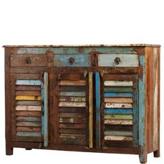 SHIP TO SHORE Sideboard with louvred doors - Day & Night - butlers