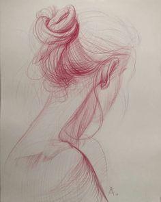 Delicate drawing by Andrey Samarin (@andreysamarin). Love it!