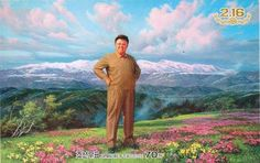The Glorious Leader Kim Jong Il as a chubby pimp North Korea, 2012 This is the last stamp designed before KJI's death, and it was released postumously by the DPRK government Kim Jong Il, Korean People, Unbelievable Facts, North Korea, Stamp Collecting, The Darkest, History, American, World