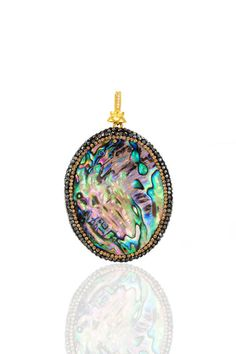 Turkish natural abalone pendant with marcasite by JOYANDRACHEL
