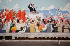 mural in Pyongyang, North Korea : Der Staatsgründer übergroß in der öffentlichen Wahrnehmung: Mauergemälde in Pjöngjang.   © Damir Sagolj/Reuters