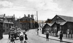 Victoria Street, Glossop and the Theatre Royal - Courtesy Trefor Thomas Victorian Street, Domesday Book, South Yorkshire, Derbyshire, Monochrome, England, Street View, Family History, Theatre