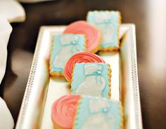 Tres Shabby Chic Baby Shower Cookies - Bella Paris Designs