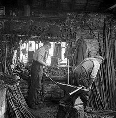 A blacksmiths shop, Gloucestershire