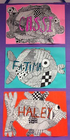 Apex Elementary Art.                                  Zentangle Fish