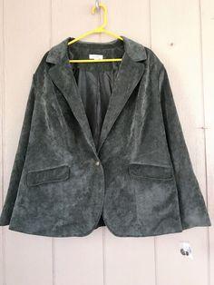 Nwt Dressbarn Women's Plus Blazer Stretch 1 Button 2 Pocket Jacket Lined Size 3X #Dressbarn #Blazer