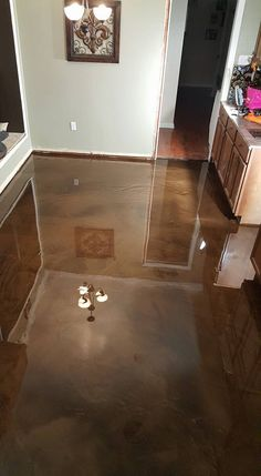 epoxy flooring baton rouge, la - brown copper metallic | marvelous