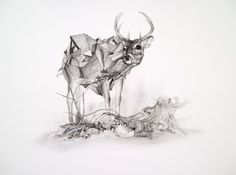 Geometric Pattern Deer Illustration - Creative Journal. beautiful