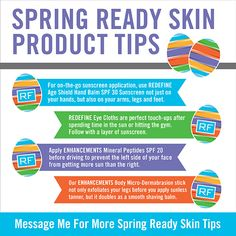 Great Skin Care Tips for Spring and some must have Rodan and Fields Products for the warm weather ahead!