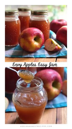 If you are an apple lover like us, you need to try the homemade Envy apples easy jam. This recipe has the perfect balance of sweet and citrusy. Apple Desserts, Apple Recipes, Easy Desserts, Delicious Desserts, Gala Apples Recipe, Jelly Recipes, Easy Jam Recipes, Apple Jam, Apple Butter
