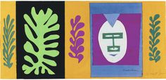 The Eschimo by Henri Matisse, gouache and cut out paper, 1947 Henri Matisse, Matisse Art, Gouache, Abstract Expressionism, Abstract Art, Matisse Cutouts, Picasso Paintings, Wall Paintings, Vincent Van Gogh