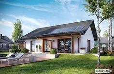 Projekt domu Kornel VI (z wiatą) ENERGO : styl Nowoczesny, w kategorii Domy zaprojektowany przez Pracownia Projektowa ARCHIPELAG