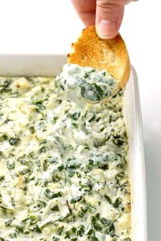 I have to give you one piece of advice: bring the easy spinach artichoke game day winners dip and watch how you become the big hero at the party!