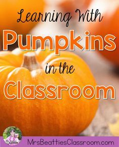 This is the PERFECT time to bring the outdoors into the classroom! Read and write about pumpkins and investigate them inside and out! This post is full of book suggestions and ideas for pumpkin math activities that you can easily do with the students in y