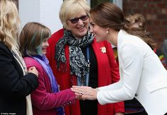Kate chatted with 20-year-old Zara Auld from Victoria and her mother Anne Aulds at the Cr...