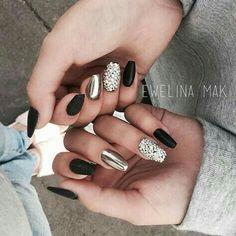 Beautiful chrome, black, jeweled