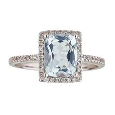 Shop for Anika and August 14k White Gold Brazilian Aquamarine and 1/5ct TDW Diamond Ring (G-H, I1-I2). Get free delivery at Overstock.com - Your Online Jewelry Destination! Get 5% in rewards with Club O!